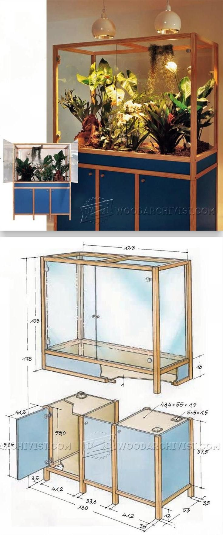 Diy reptile terrarium woodworking plans and projects