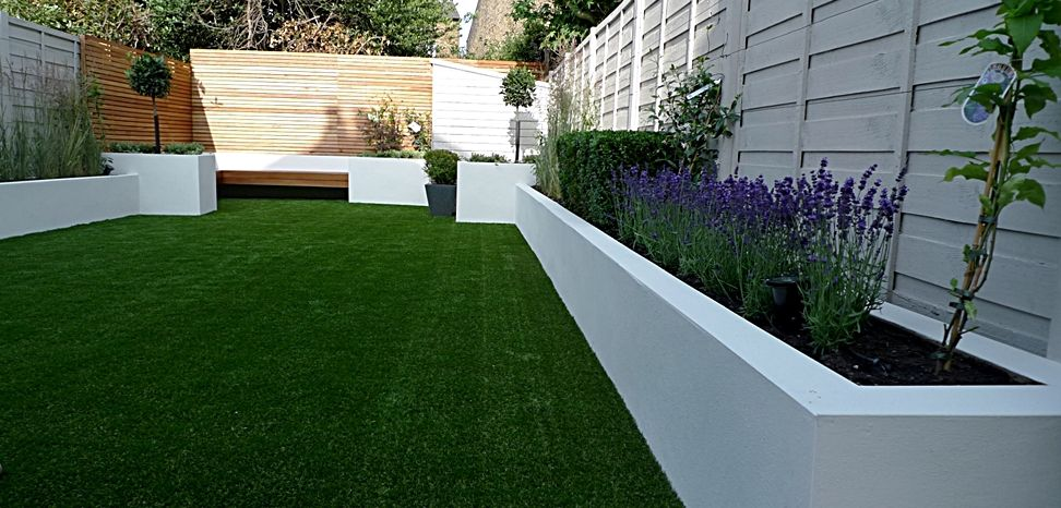 Modern london garden design white garden london for the for Garden and design