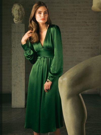 Elegant Die Schonsten Abendkleider News Aktuelles Burda Style Kleider Langarm Kleid Festliche Mode