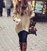 Women's Hooded Long Sweater