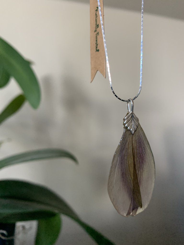 Alstroemeria Flower Necklace Sterling Silver Necklaces Necklace Silver Necklace