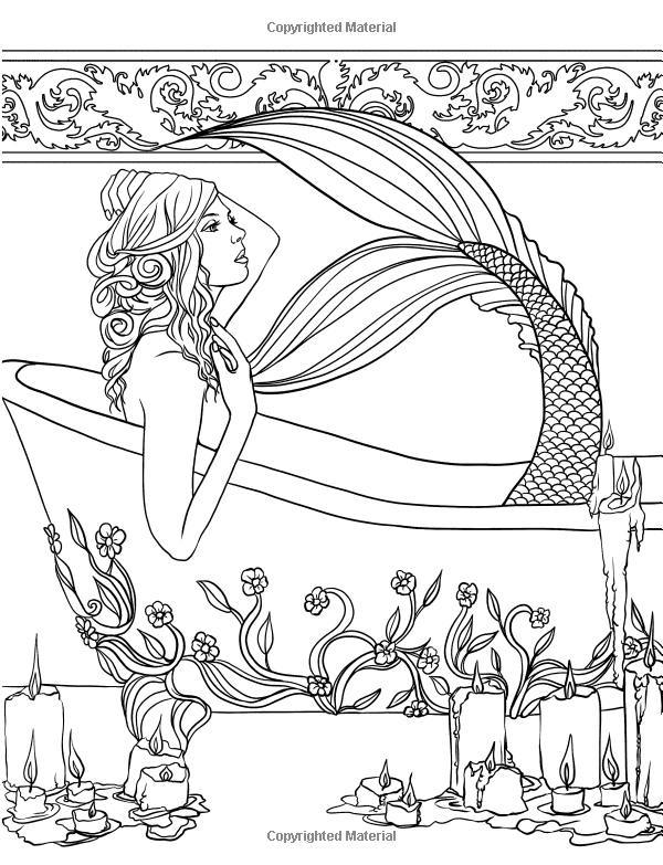 Mermaids - Calm Ocean Coloring Collection: Selina Fenech | Love of ...