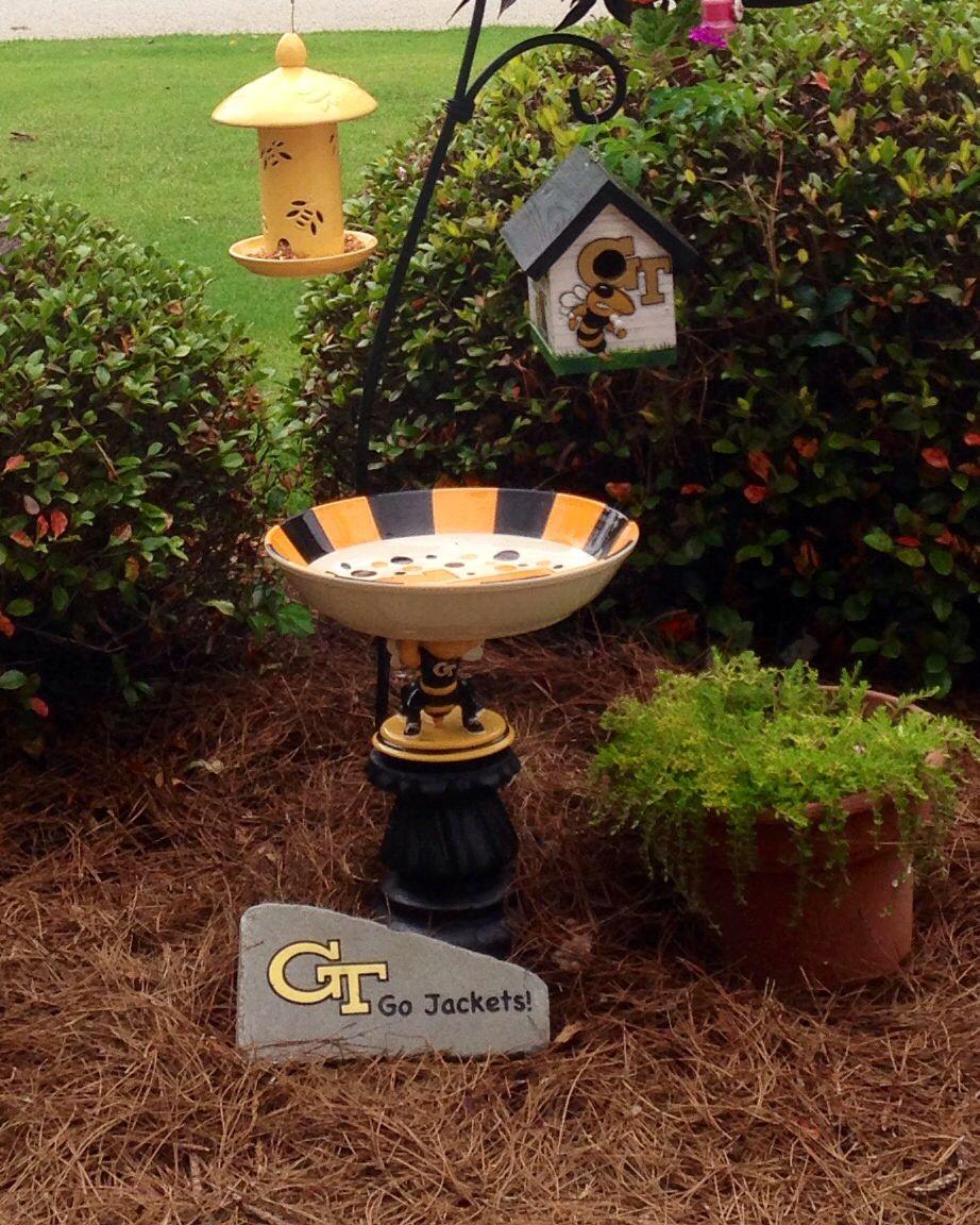 Ga Tech Home Made Birdbath Tech Bird Houses Diy