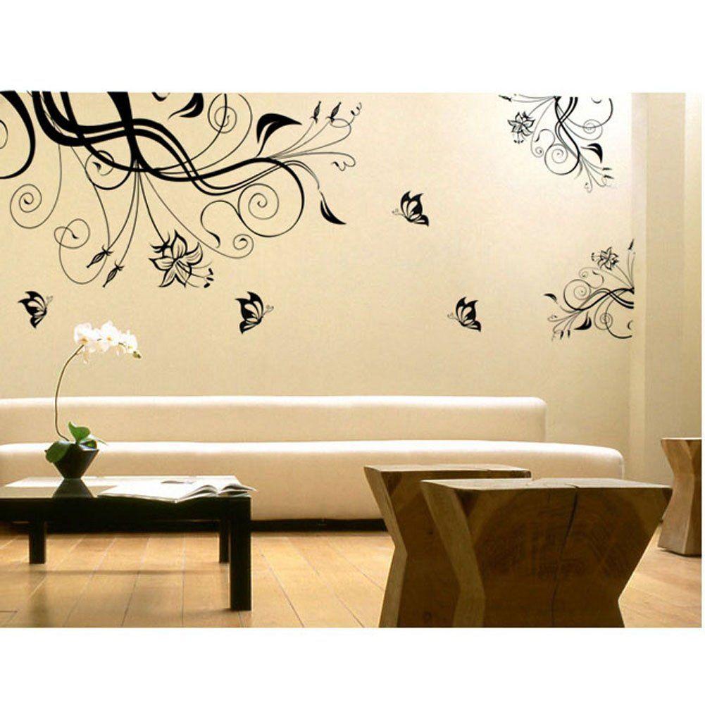 Amazon.com - Large Flower Tree Vine Blossom Vinyl Wall Sticker ...