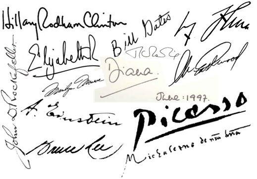 50 Rich Famous People Signatures