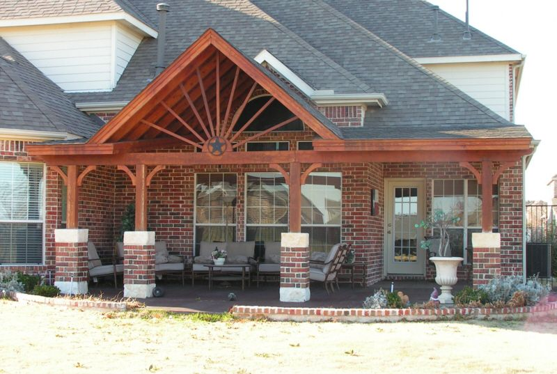 Gable Roof With Extension Covered Patio Pinterest