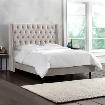 Olympia Tufted Upholstered King Bed in Dove | BED | Pinterest