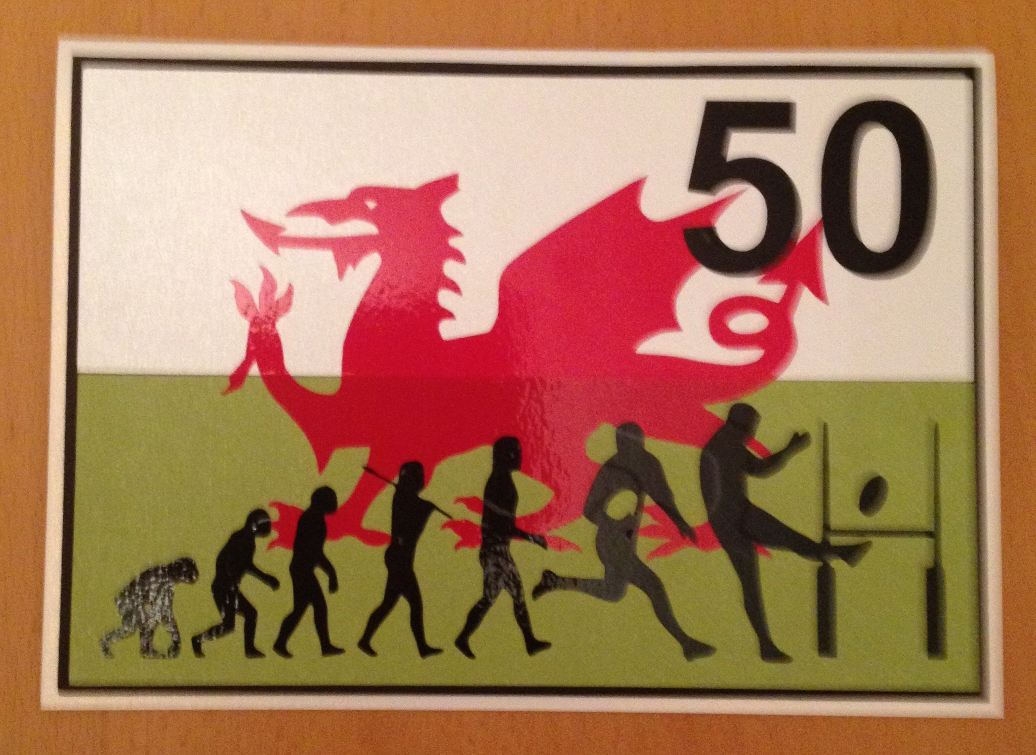 A 50th birthday card made for my welsh rugby loving brother in law a 50th birthday card made for my welsh rugby loving brother in law bookmarktalkfo Gallery