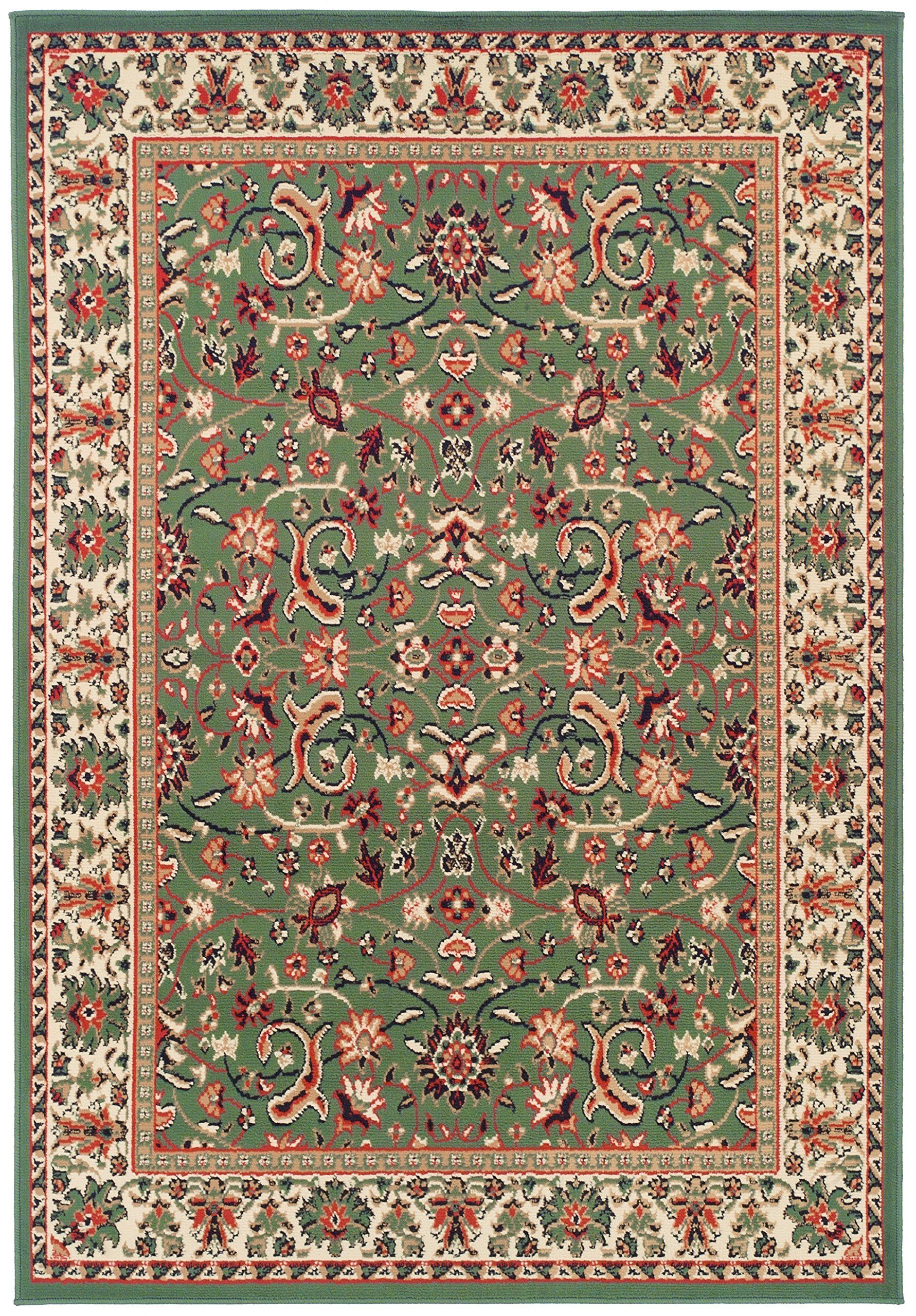 Traditional Area Rugs For Living Room 8x10 Green Large Rugs For