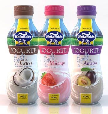 Design De Embalagem Para Iogurte Light Holandes Embalagens