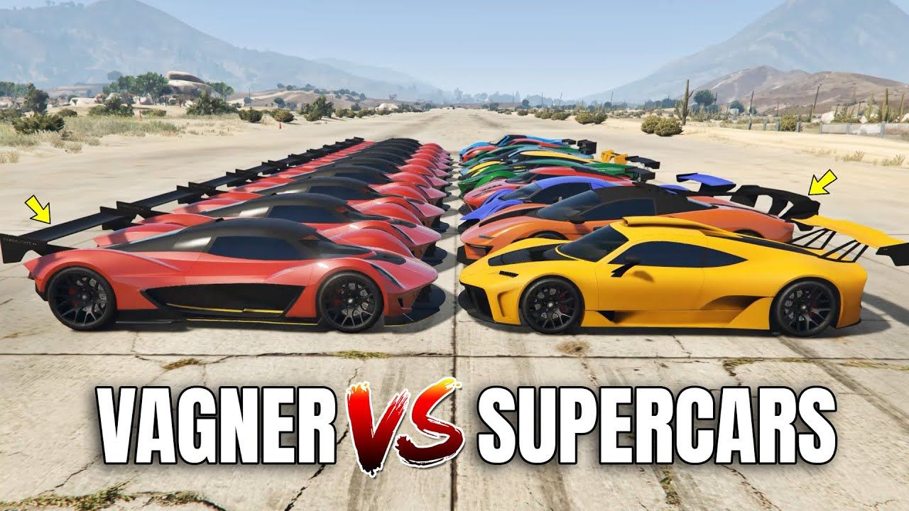 Gta 5 Online Vagner Vs 10 Fastest Supercars Which Is Fastest Drag In 2020 Super Cars Gta 5 Online Gta 5