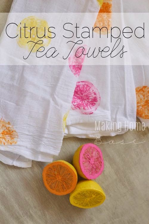 Citrus stamped tea towels cute for summer do it yourself today citrus stamped tea towels cute for summer solutioingenieria Choice Image