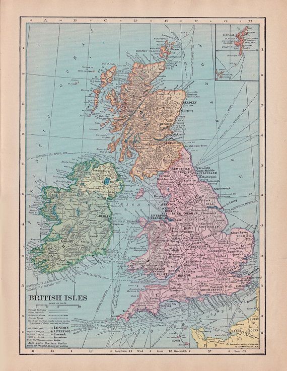 fabric yardage vintage map of the united kingdom england ireland scotland wales crafting and sewing supplies