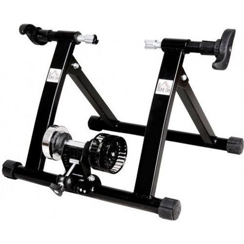 Foldable Indoor Bicycle Bike Turbo Trainer In Black Bike Trainer