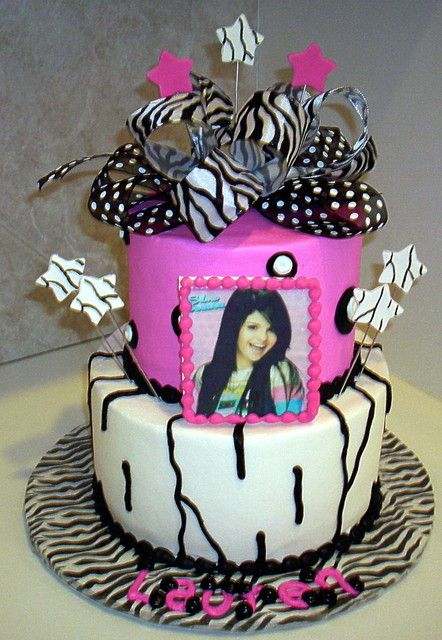 Awesome Selena Gomez Birthday Cakes Selena Gomez And Zebra Birthday Cake Funny Birthday Cards Online Drosicarndamsfinfo