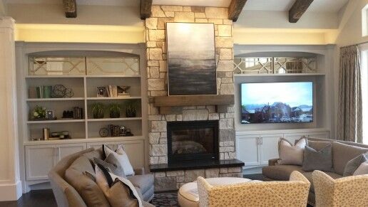 Tv Next To Fireplace Family Room Design Living Room Remodel Room Remodeling