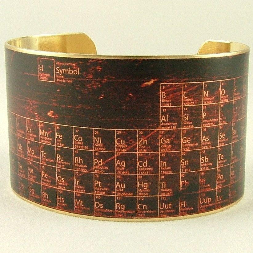 Periodic table of elements chemistry handmade steampunk brass cuff brass cuff bracelet periodic table of elements pharmacist jewelry 4000 via etsy urtaz Gallery