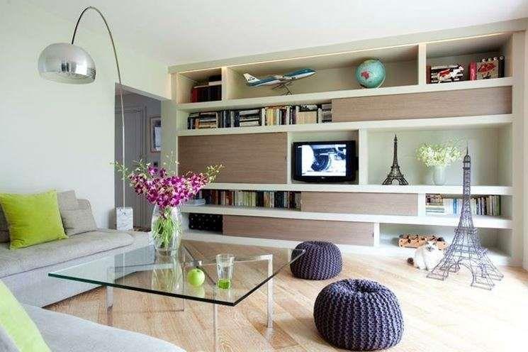 Idee pareti soggiorno in cartongesso soggiorno con grande parete