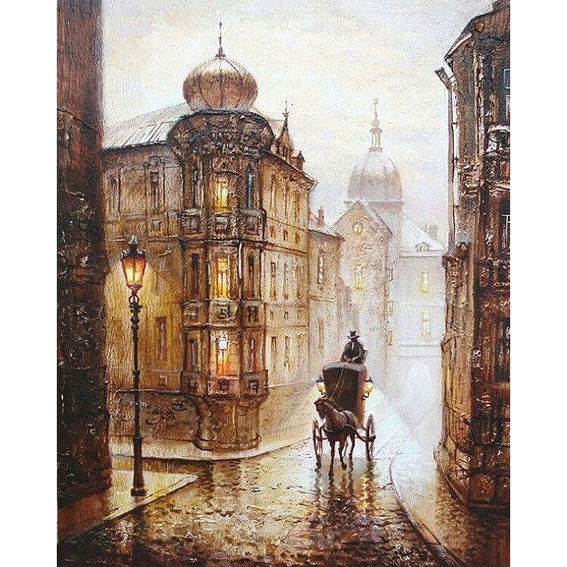Cobblestone Street In Old England Street Painting Paint By