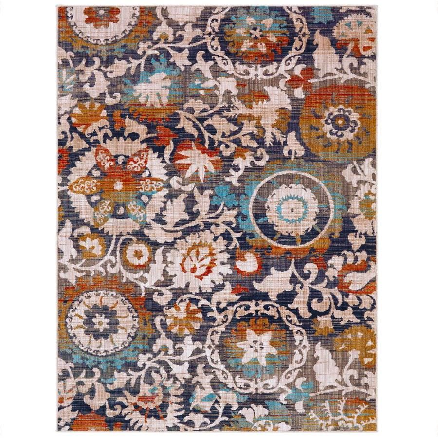 Mohawk Home Jeslynn Multi Rectangular Indoor Machine Made Area Rug Common 10 X 13 Actual 10 Ft W X 13 Ft L Lowes Com Natural Area Rugs Area Rugs Rugs