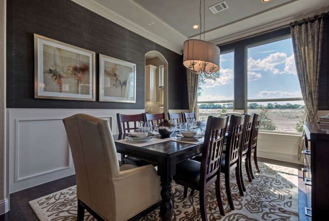 Grasscloth Wallpaper Adds Warmth To Formal Dining K Hovnanian Homes Frisco TX
