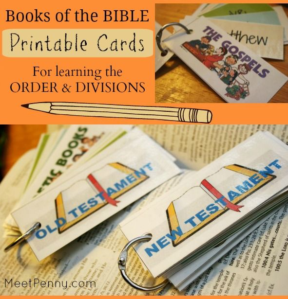 Free Printable Books of the Bible Ordering Cards | Bible ...