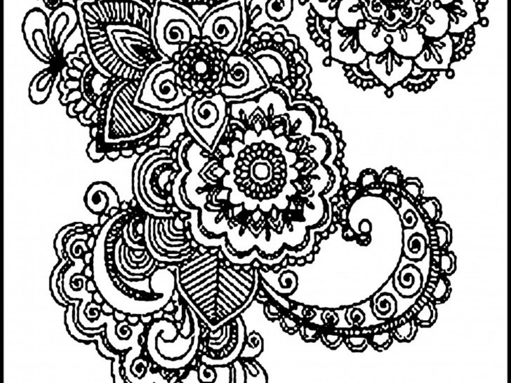 Free mandala coloring pages to print - Difficults Adults Mandala Coloring Pages Colorine Net 26981