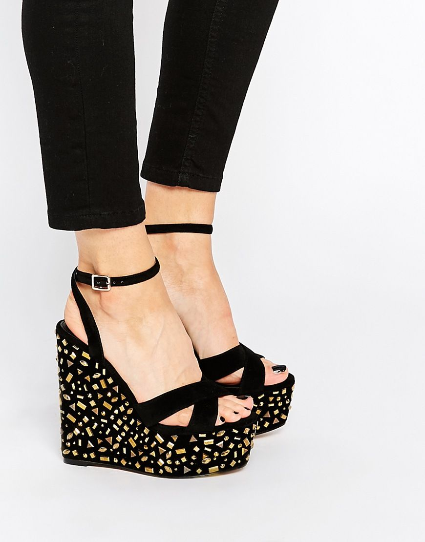 Buy Women Shoes / Carvela Genie Embellished Wedge Sandals