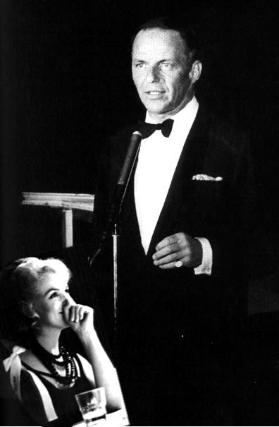 Marilyn & Frank Sinatra August 13rd 1960, at the premiere of his show at the Cal Neva Lodge.
