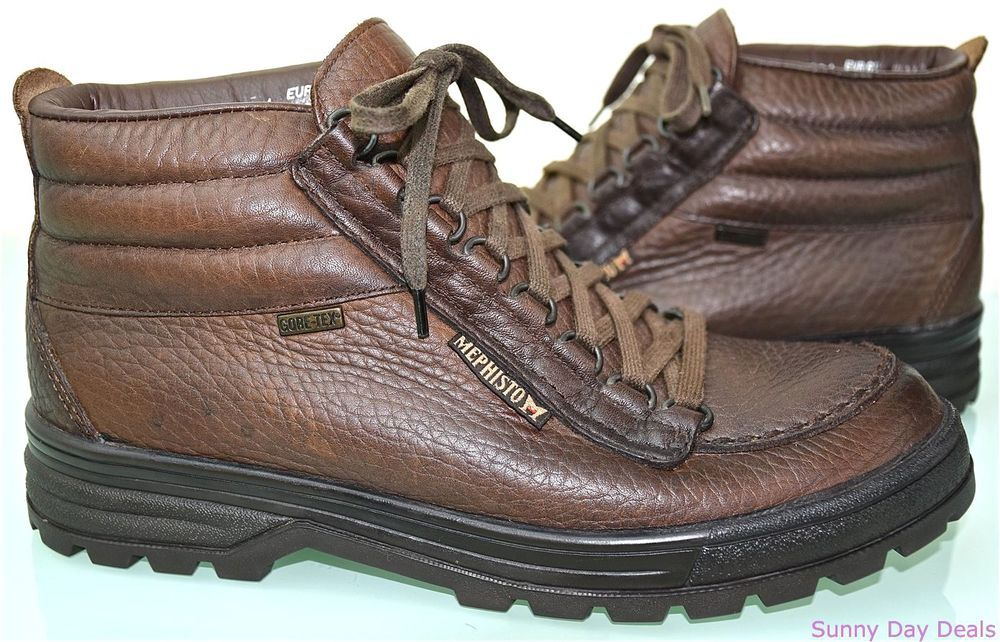 e692a0cc4042f Mephisto Boots Sierra Trampolins Brown Leather Waterproof Trail ...