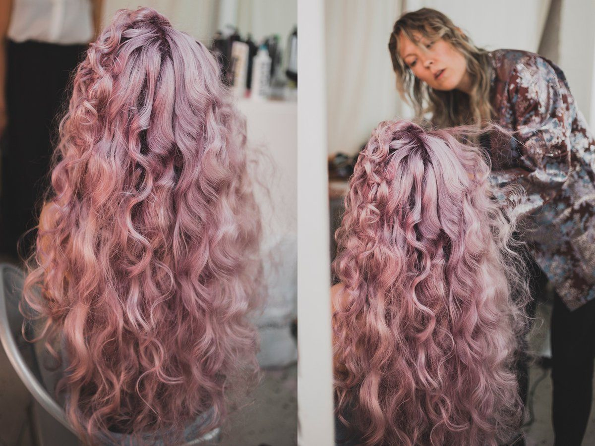 What a royal pink hair made with KC Professional Luxima haircolor ... d2a5903785