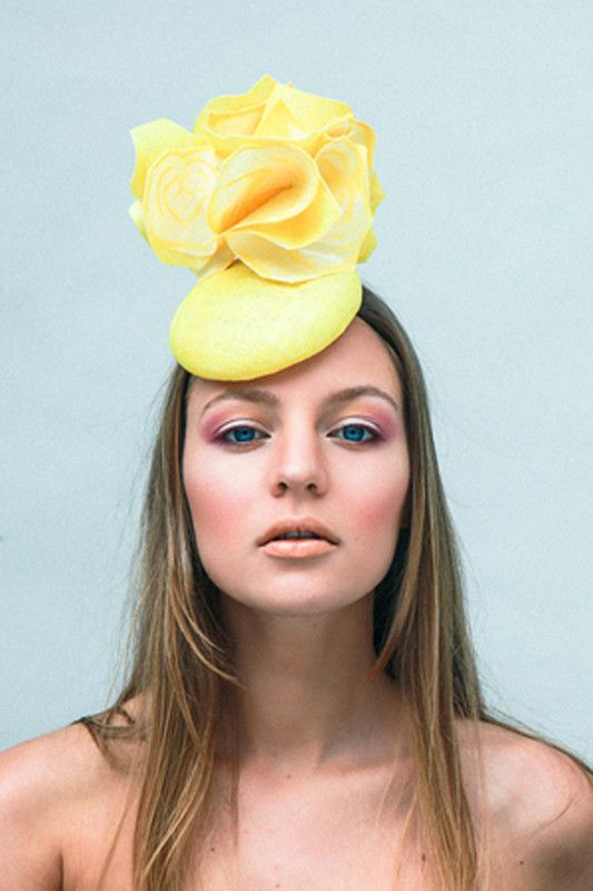 Mary Franck | Yellow Rose | Yellow and Pill Box Hats | LOVEHATS.COM