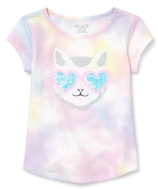 The Childrens Place Girls Big Flip Sequin Top