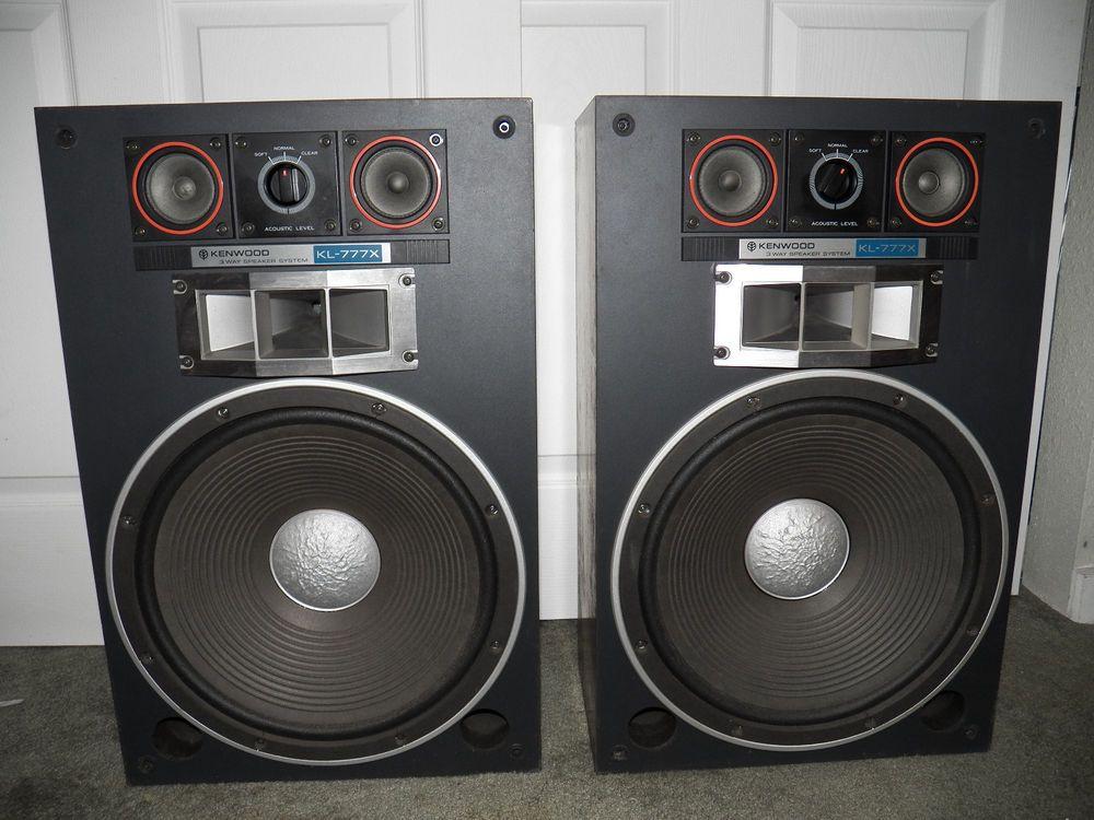Vintage kenwood floor speakers with grill covers 3 way kl for 15 inch floor speakers
