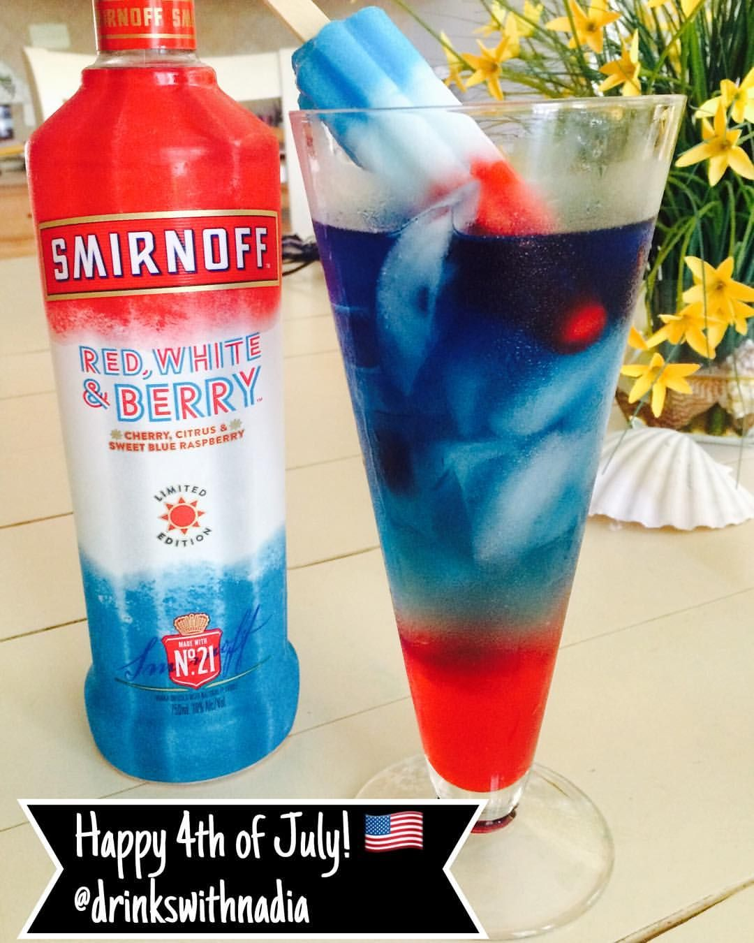 Happy 4th Of July Diageorep Smirnoff Red White Berry Vodka
