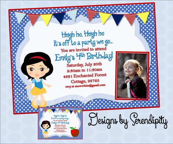 image relating to Snow White Invitations Printable known as Snow White Invitation, Tailor made, Printable Invitation, Do it yourself