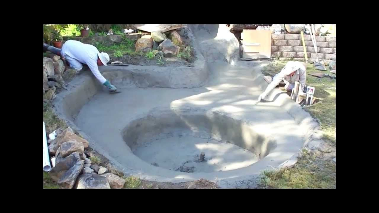 Cement ponds design a pond liner vs concrete build a for Make your own pond liner