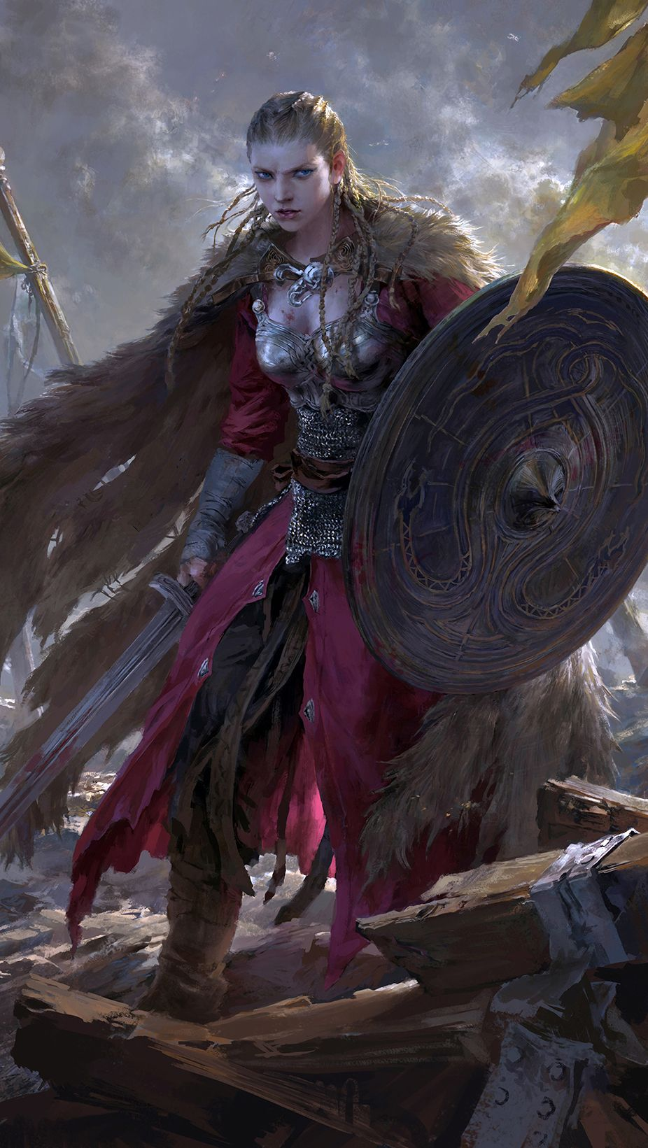 Brynhildr by flowerzzxu on deviantart detail faery - Fantasy female warrior artwork ...