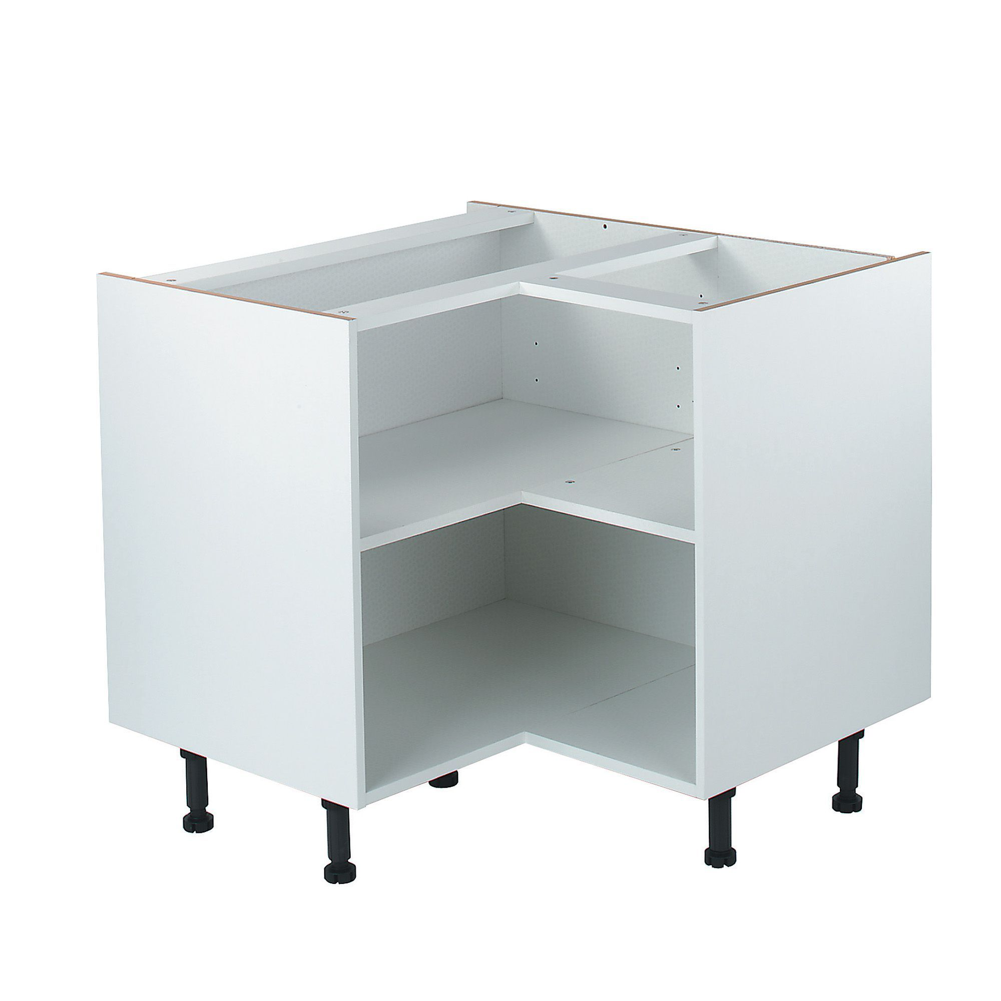 IT Kitchens White Corner Base Cabinet (W)925mm | Departments | DIY ...