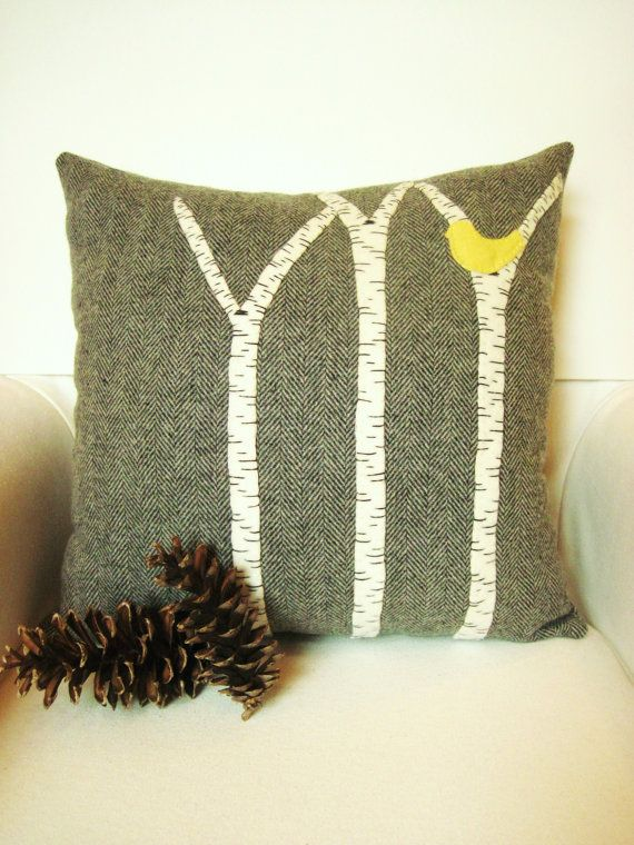 Birch Tree Decor Rustic Pillow Rustic Home Decor Rustic Throw Classy Cabin Decor Throw Pillows