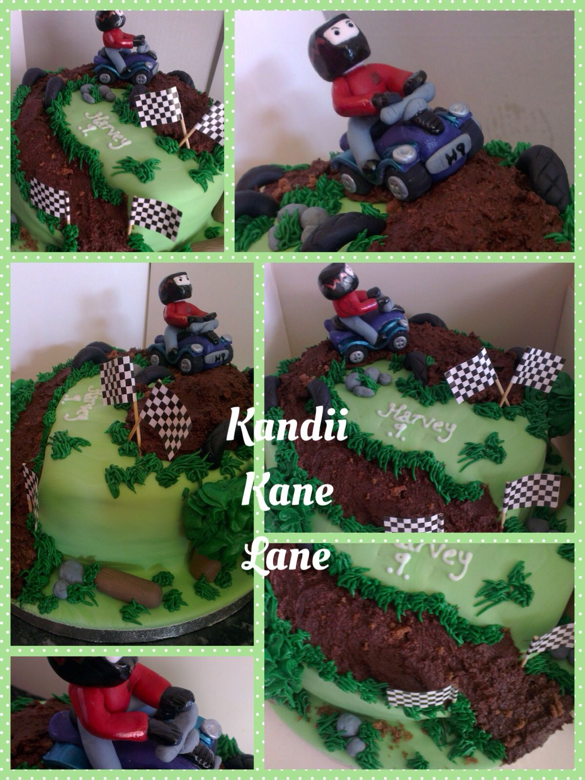Boys Quad Bike Birthday Cake