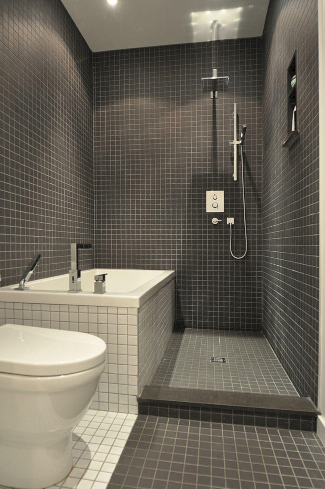 30 Attractive Small Bathtub Design For Cozy Bathroom Ideas Freshouz Com Bathroom Design Small Small Bathroom Tiles Bathroom Layout