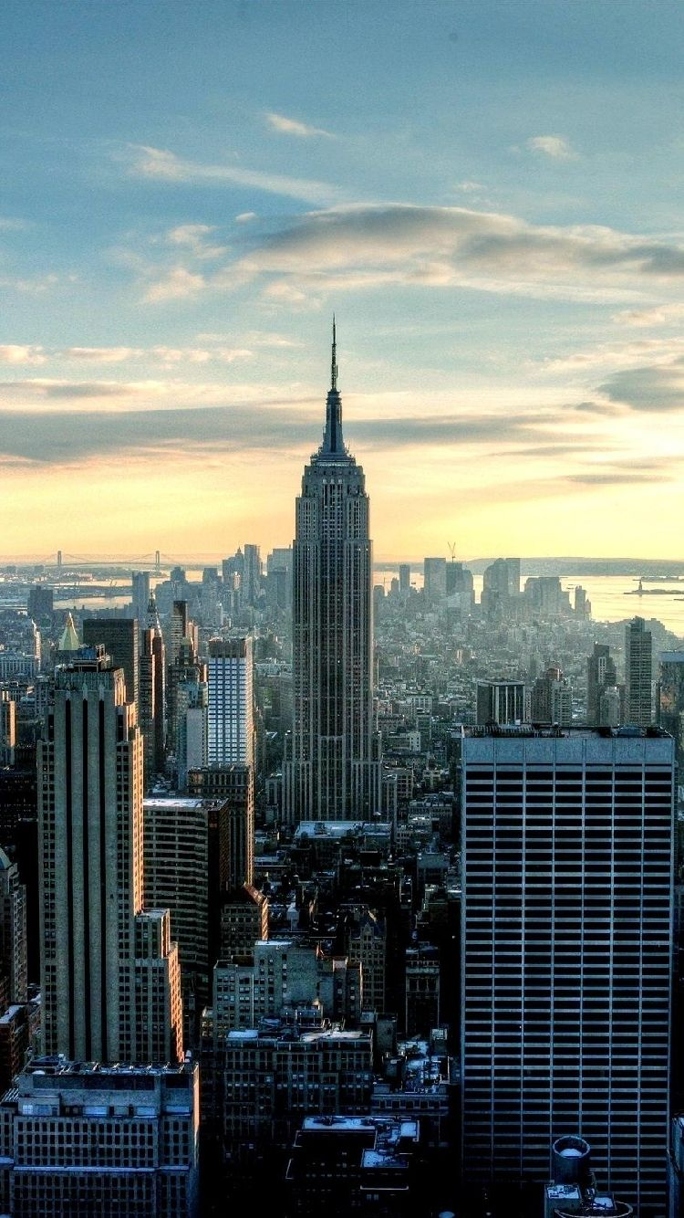 Free Iphone 5 Wallpaper for your iPhone: New York building | ♡ Wallpapers I Love ♡ in 2019 | New ...