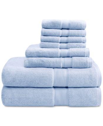 Madison Park Signature Solid 8-Pc. Towel Set & Reviews - Bath Towels - Bed & Bath - Macy's ,  #8Pc #Bath #Bed #lightbluetowel #Macys #Madison #Park #Reviews #Set #Signature #Solid #Towel #Towels