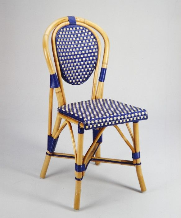Beaufurn FB 207 French Bistro Chair In Pattern: (B) Weave In Sea Blue U0026  White....Expertly Crafted By Hand With Steam Bent Frames Made Of Malacca Or  Manau ...