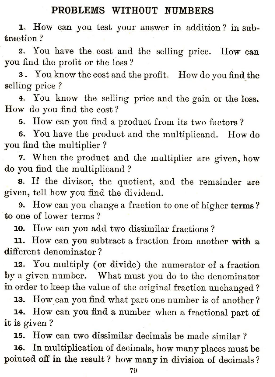 Math Worksheet Out In Left Field Math Problems Of The