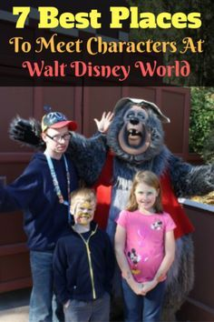 Make sure that the 7 best places to meet characters at Walt Disney World are on your touring plan. You can capture some incredible memories!