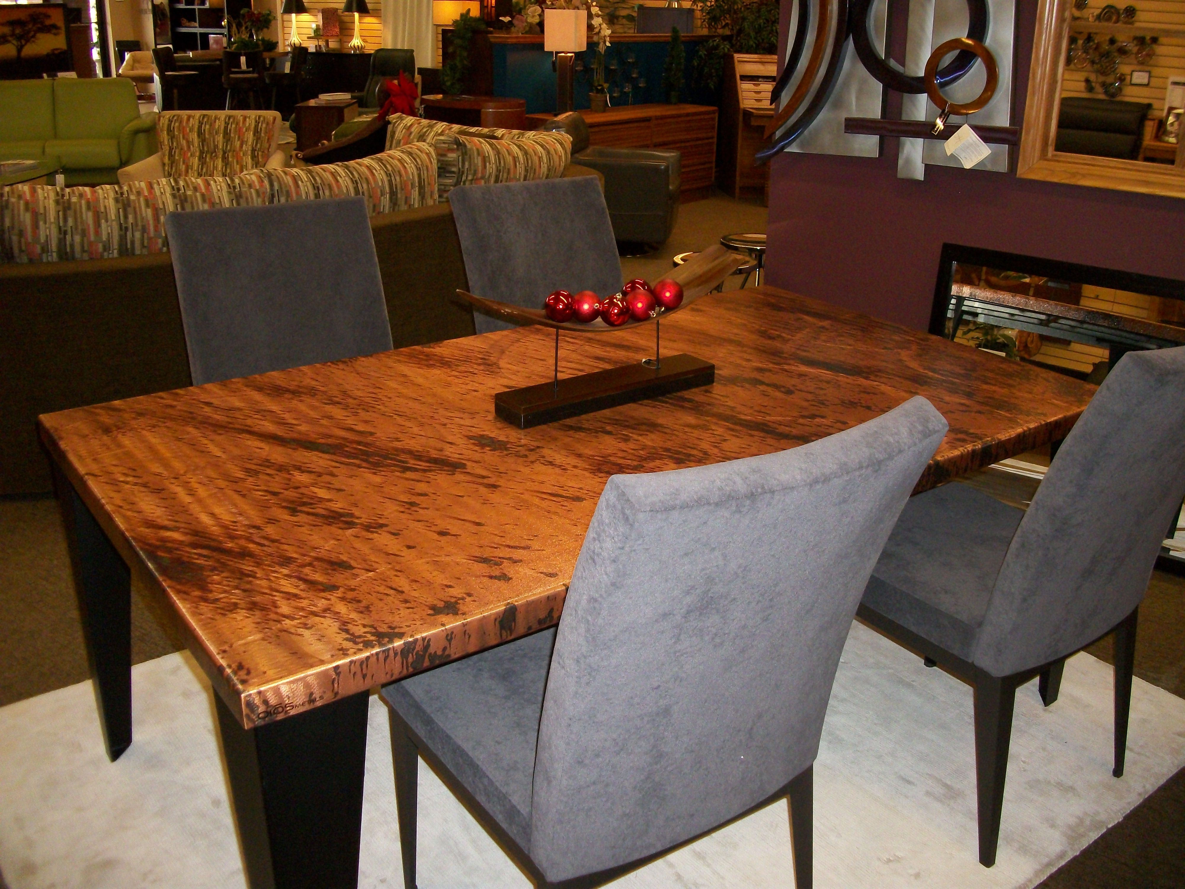Oios Metals Dining Table Lazar Chairs