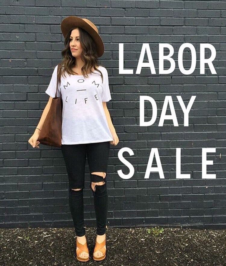 60c91429bdd Our Labor Day sale ends today. Take 25% off regular priced items using  code  LABORDAY  momlife