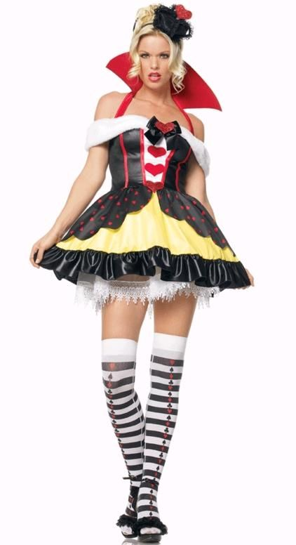 Alice Queen Of Hearts Wig Ladies Fairy Tale Wonderland Storybook Fancy Dress